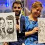 La boda de Laura F. y DCM Caricaturas 21