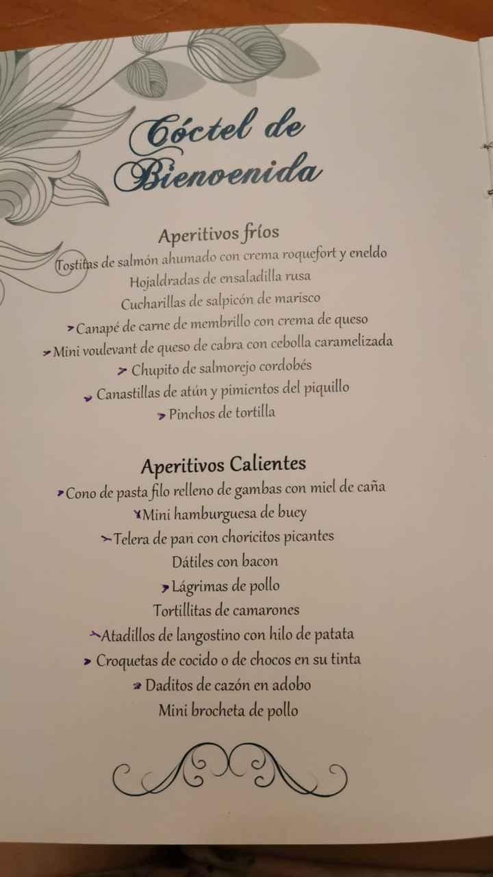 El menú a debate 😝 - 2