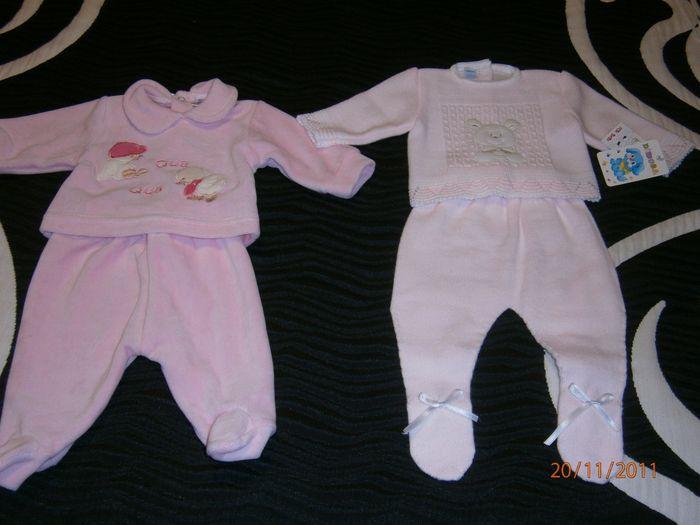 Su primer pijama rosa y un conjuntito