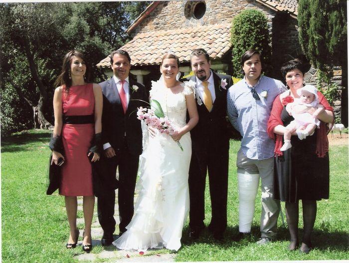 La familia de la novia....