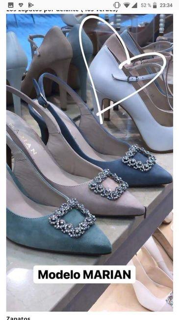 Color de zapatos - 1