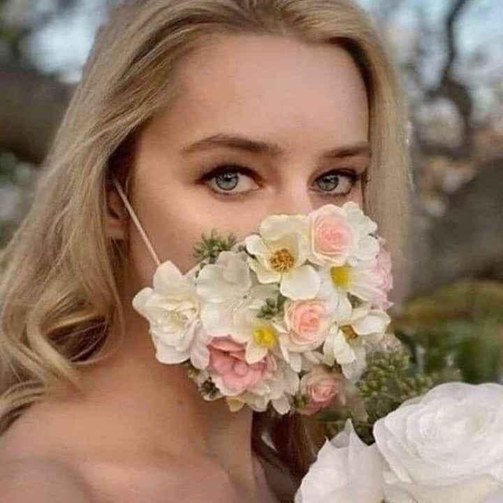 Mascarilla de novia distintas. Se nos va de las manos 😂 - 2