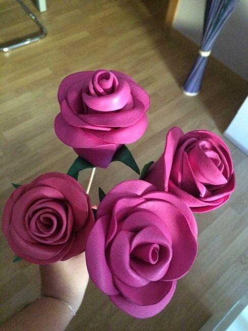 Flores de goma eva Manualidades Foro Bodasnet