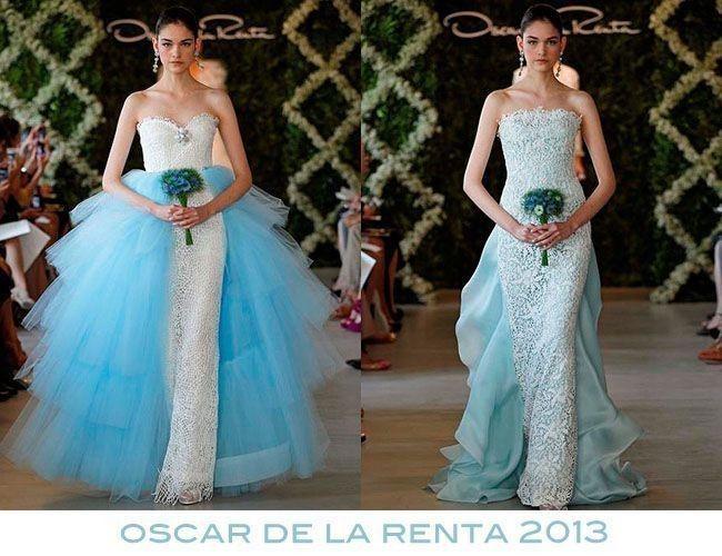 Vestidos de novia con detalles turquesa