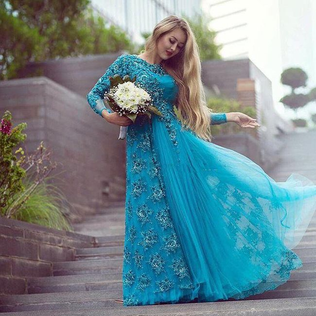 novias de turquesa - moda nupcial - foro bodas