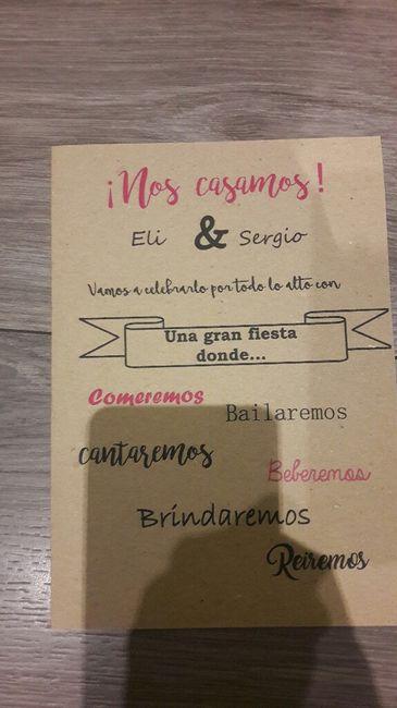 Manualidad invitación de boda 2