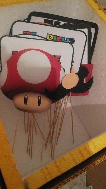Nuestro photocall Mario bros Diy 17