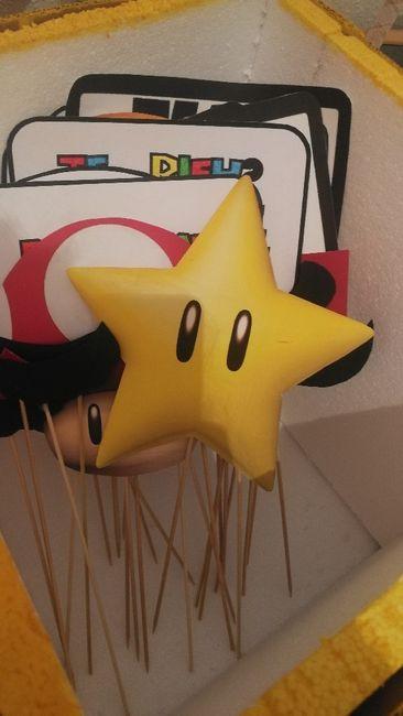 Nuestro photocall Mario bros Diy 19