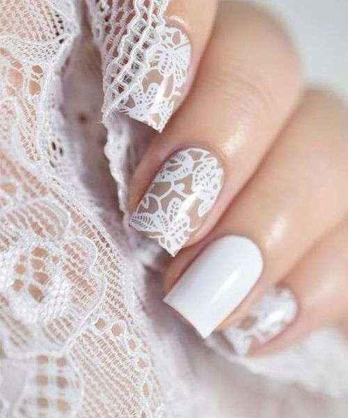 Manicura francesa de novia - 1