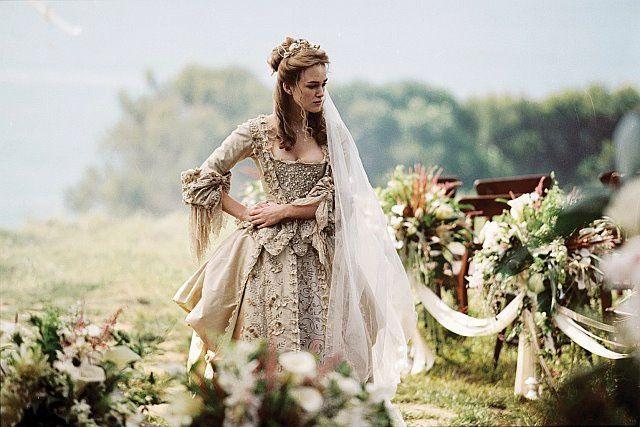 Vestido de novia, Keyra Knightly, piratas del caribe