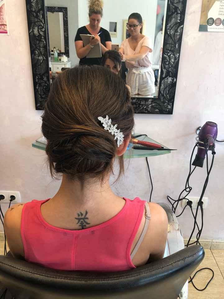 Mi prueba de peinado y maquillaje! - 1