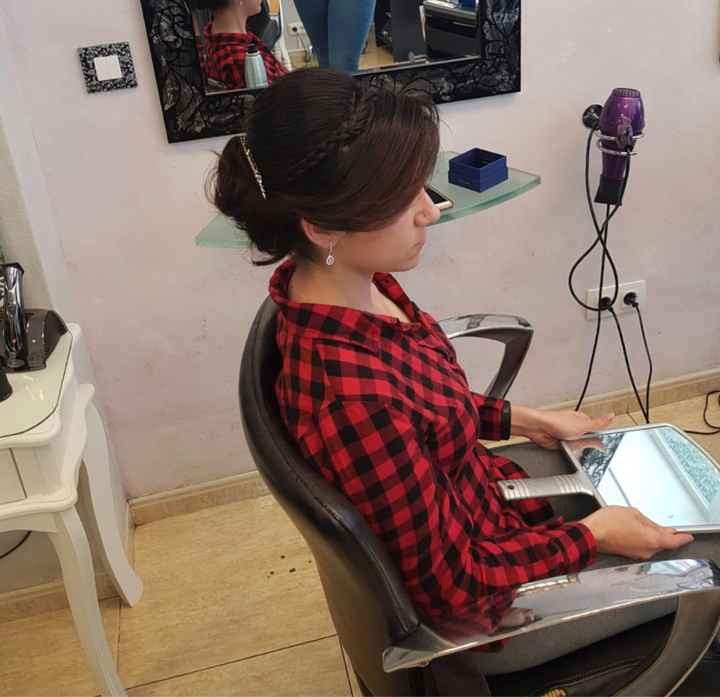 Mi prueba de peinado y maquillaje! - 3