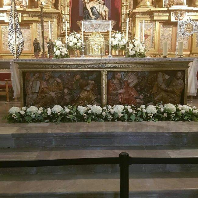 Decoración flores iglesia - 1