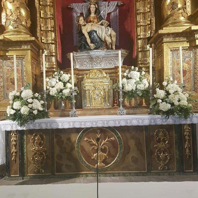Decoración flores iglesia - 2