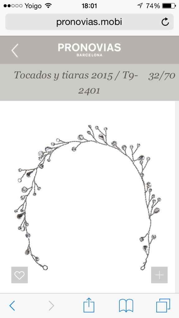 Precio tiara pronovias modelo t2-2637 - 1