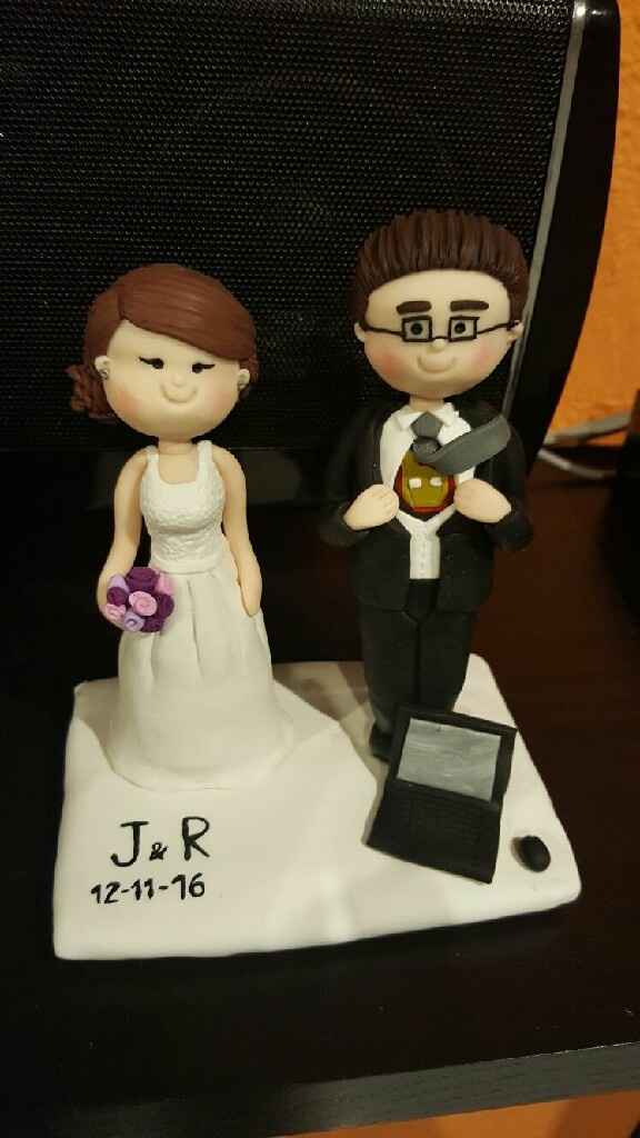 Muñecos para la tarta de boda - 1