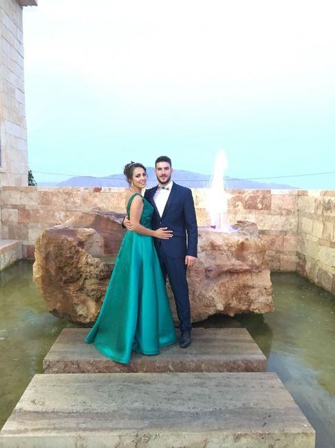 aqui estamos en la boda de mi hermano, donde me pidió matrimonio
