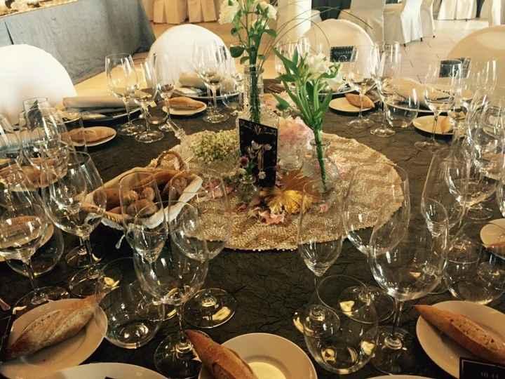 Decoración mesas invitados