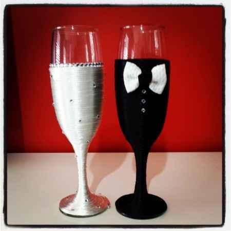 Decoración copas para el 1er brindis :) !!!! - 1