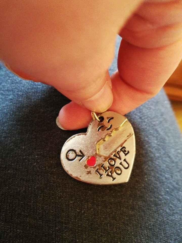 Llaveros de corazón y llave para las parejas adolescentes o solteros - 1