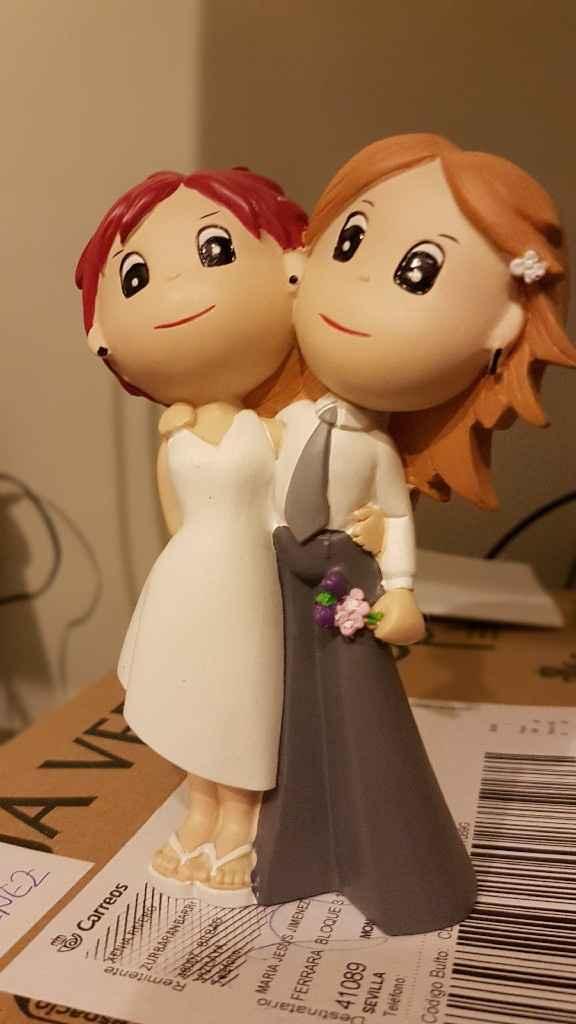 Dos muñecas de tarta nupcial  - 1