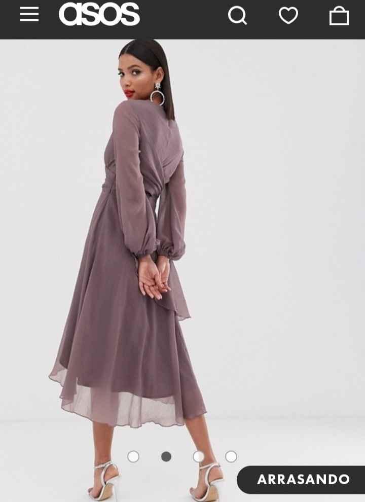 Complementos vestido color visón. - 1