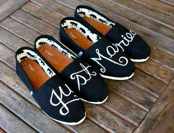 Zapatos de novio con mensaje - 1