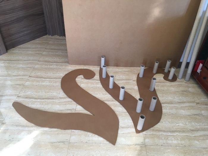 Tutorial letras gigantes cartón - 2