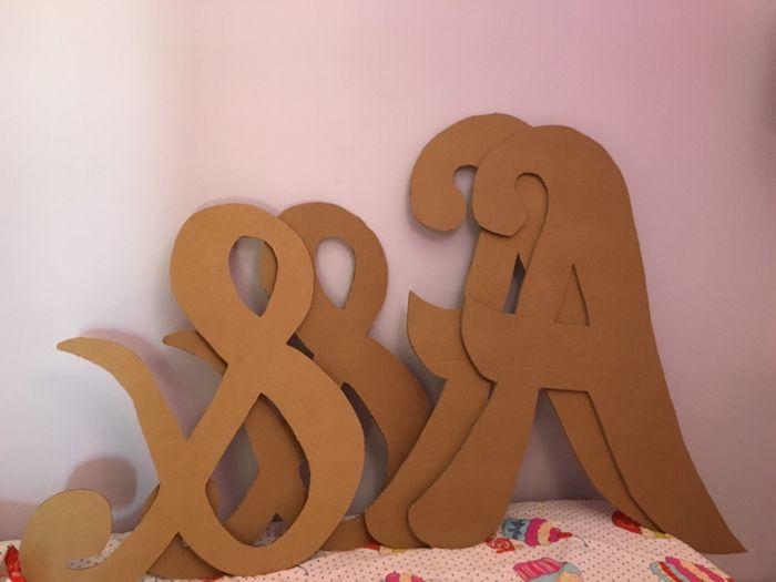 Tutorial letras gigantes cartón - 4