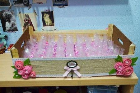 Las manualidades de mi boda imaginaci n al poder - Cajas de fruta decoradas ...