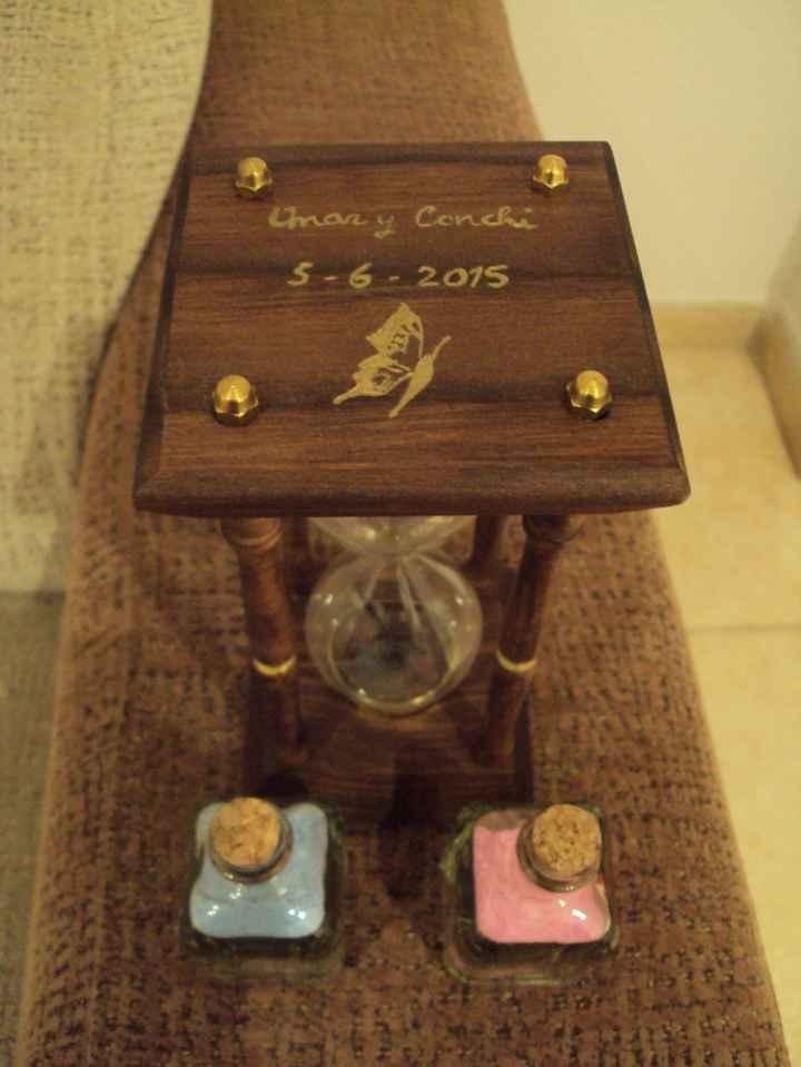 Nuestro reloj para ceremonia de la arena.