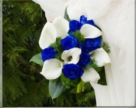 ramo azul - antes de la boda - foro bodas