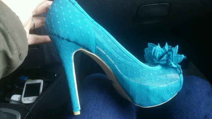 Ayuda!! necesito teñir los zapatos de novia - 1