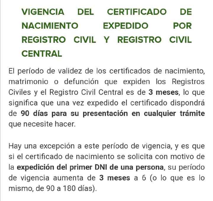 Caducidad del certificado de empadronamiento - 1