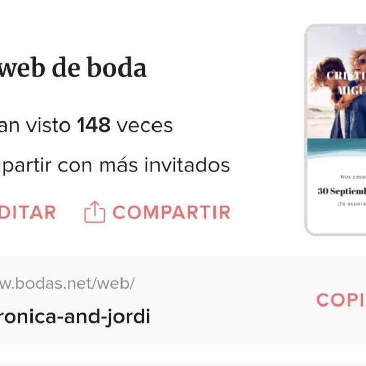 Help me!como enviar la web de boda por whatssap?? - 1