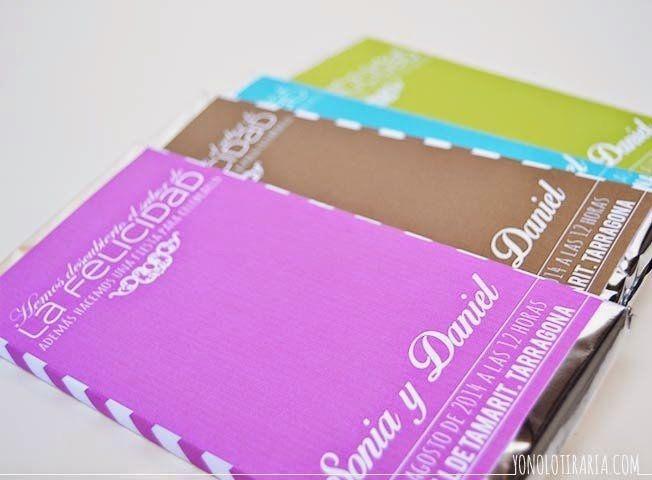 Invitaciones tableta de chocolate 1
