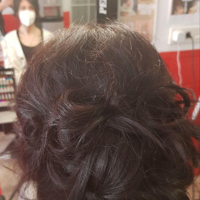 Mi prueba de peinado!!🥰 1