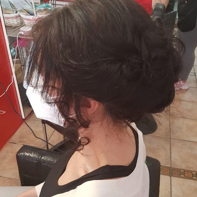 Mi prueba de peinado!!🥰 2
