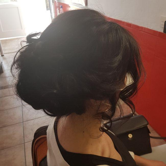Mi prueba de peinado!!🥰 4