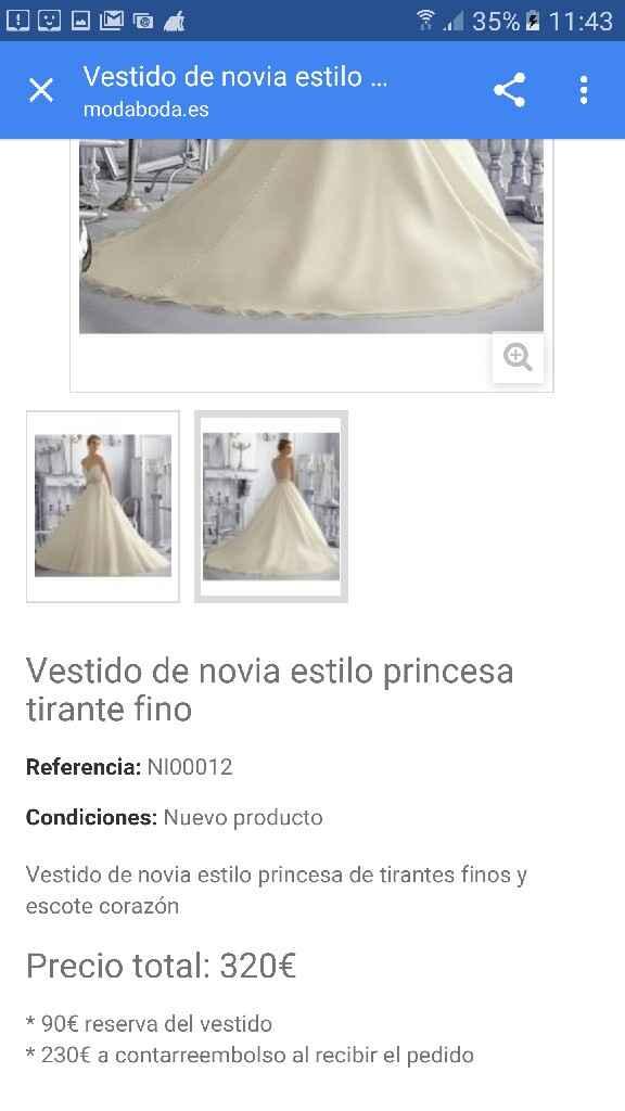 Vestido de novia eeconómico - 1
