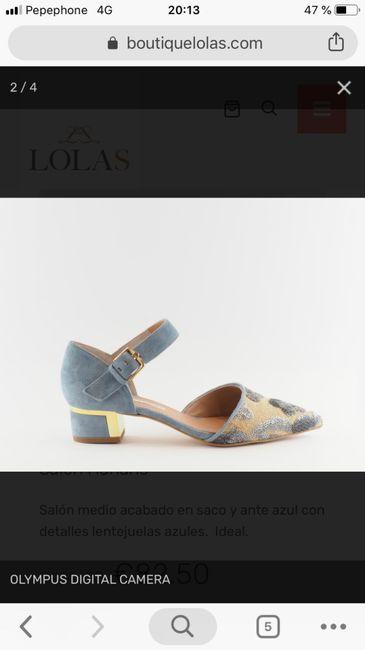 Zapatos celestes 10