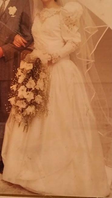 Transformación vestido de novia de mi madre 1
