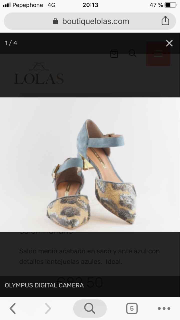 Zapatos celestes - 1
