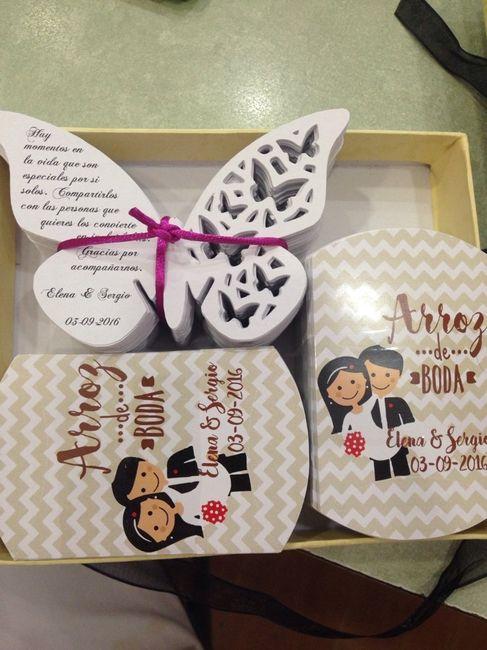 Cajas para el arroz y mariposas - 2