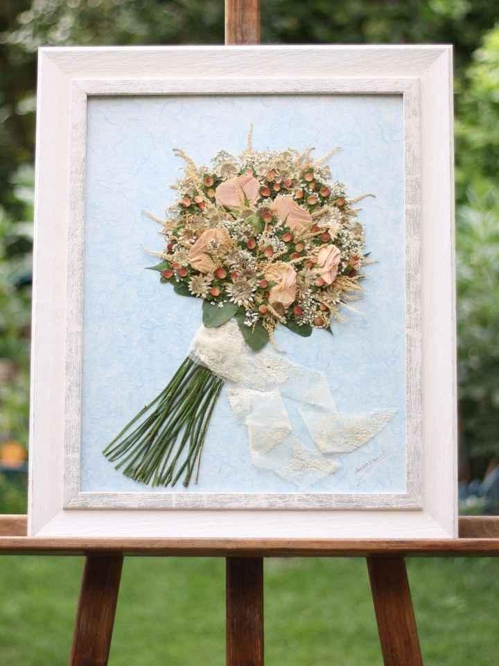 El cuadro de mi ramo de novia :)