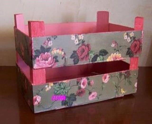 Ideas para decorar cajas de frutas manualidades foro for Decorar cajas de fruta para boda