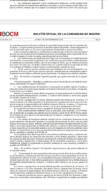 Restricciones Madrid 1