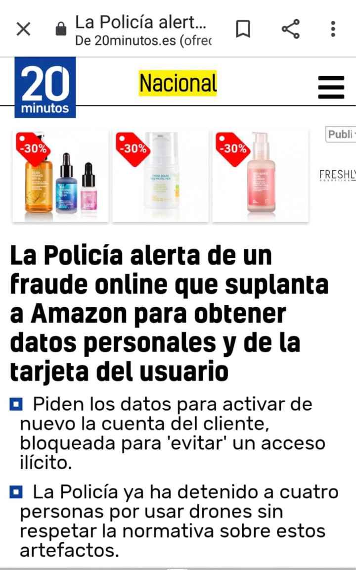 Alerta fraude Amazon - 1