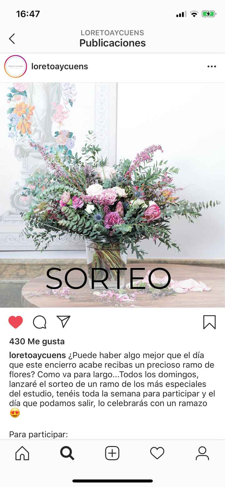 Sorteo un Ramos de flores para alegrarnos! - 1