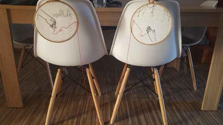 Decoracion de las sillas para la ceremonia - 1